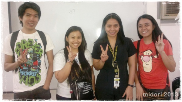 my group with our adviser :) Victory is the LORD's!